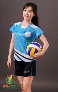 Áo bóng chuyền nữ Kelme chính hãng màu xanh ngọc K-066