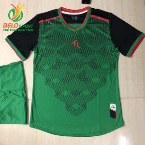 Áo bóng đá không logo màu xanh lá  2019-K08