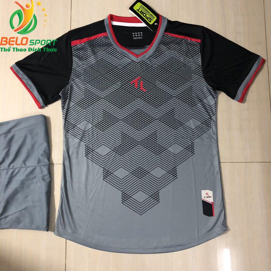 Áo bóng đá không logo màu xám 2019-K11