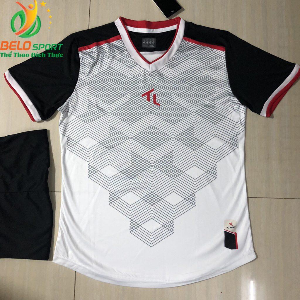 Áo bóng đá không logo màu trắng 2019-K12