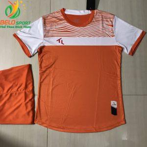 Áo bóng đá không logo màu cam 2019-K13