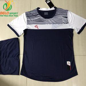 Áo bóng đá không logo màu tím than 2019-K15