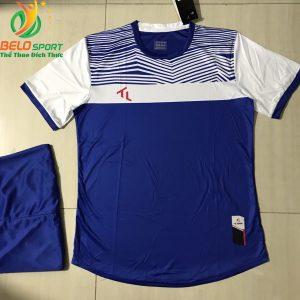 Áo bóng đá không logo màu xanh đậm 2019-K017