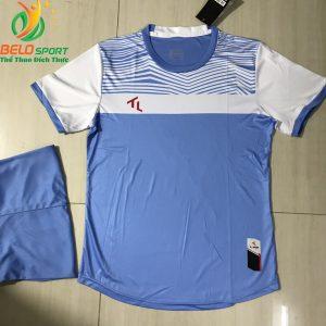 Áo bóng đá không logo màu xanh nhạt 2019-K16