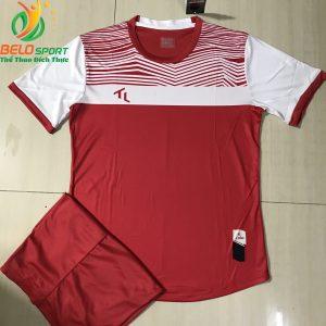 Áo bóng đá không logo màu đỏ 2019-K018