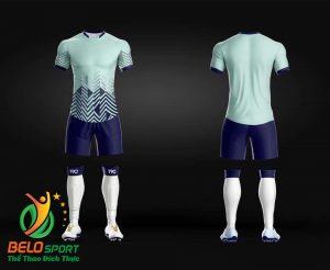 Áo Bóng đá không logo màu xanh ngọc 2019 K020