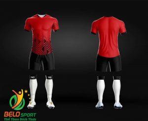 Áo Bóng đá không logo màu đỏ 2019 K021
