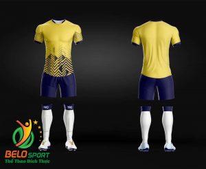 Áo Bóng đá không logo màu vàng 2019 K023