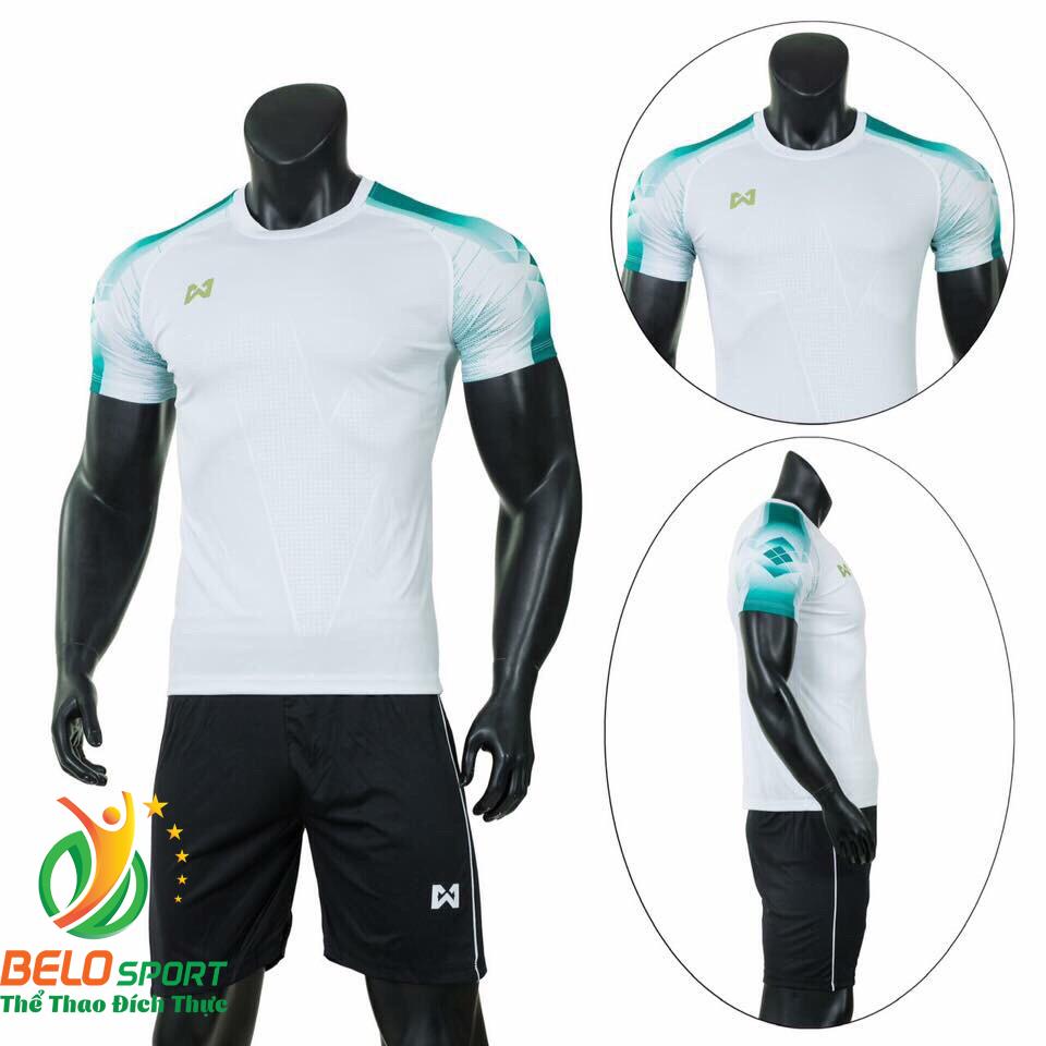 Áo Bóng đá không logo màu trắng 2019 K030