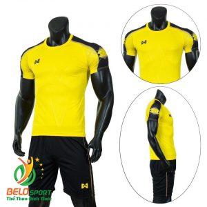 Áo Bóng đá không logo màu vàng 2019 K033