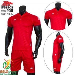 Áo Bóng đá không logo màu đỏ 2019 K036