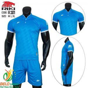 Áo Bóng đá không logo màu xanh 2019 K038
