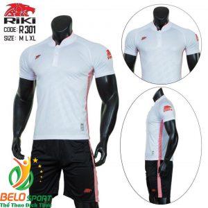 Áo Bóng đá không logo màu trắng2019 K039