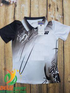 Áo cầu lông Yonex nam nữ 2019 mã ACL-688 màu trắng pha đen