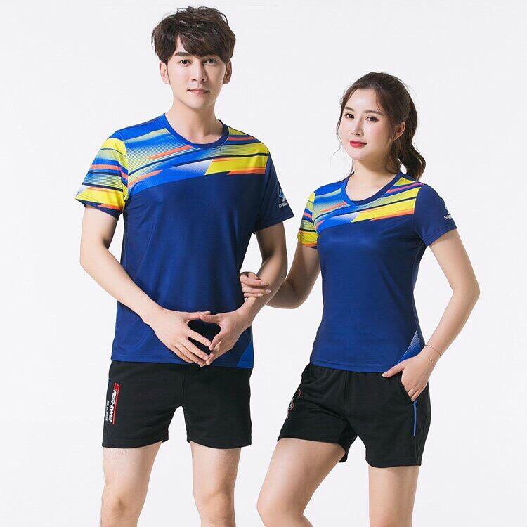 Áo cầu lông Yonex nam nữ 2019 mã ACL-888 màu xanh