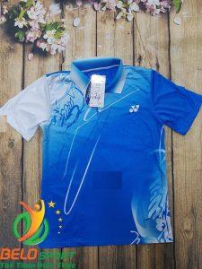 Áo cầu lông Yonex nam nữ 2019 mã ACL-688 màu xanh trắng