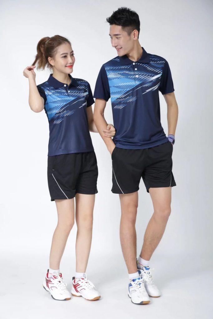 Áo cầu lông Lining nam nữ 2019 mã ACL-999 màu xanh tím than