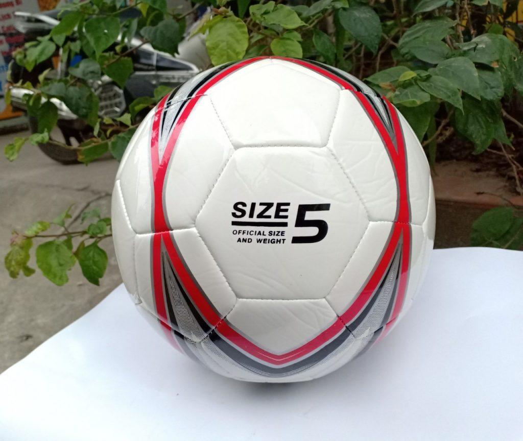 Quả Bóng đá France giá rẻ tập luyện màu trắng pha đỏ