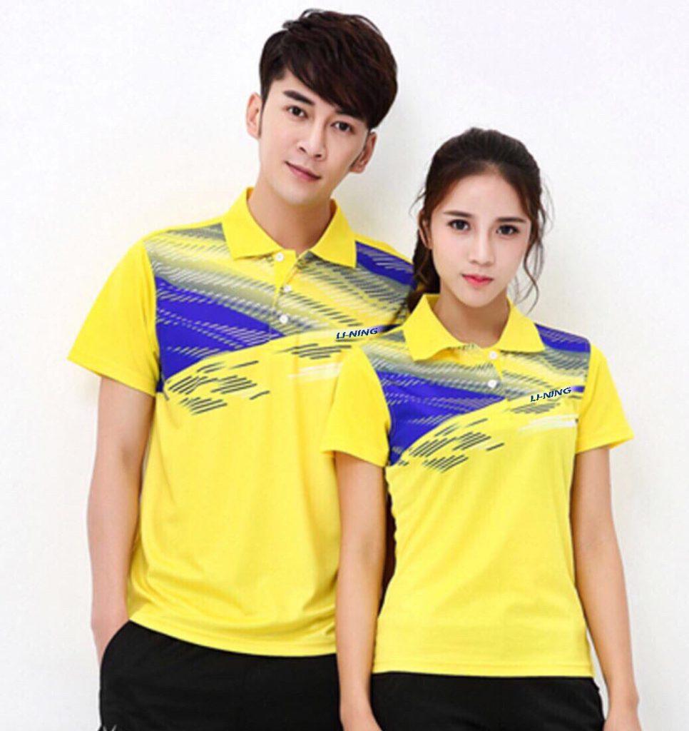 Áo cầu lông lining màu vàng nam nữ ACL-999