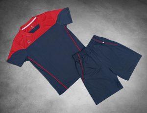 Áo Bóng đá cao cấp 2019 – B02 màu xanh đỏ pha đen