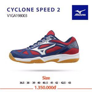 Giày bóng chuyền Mizuno Cyclone Speed 2 V1GA198003 chính hãng