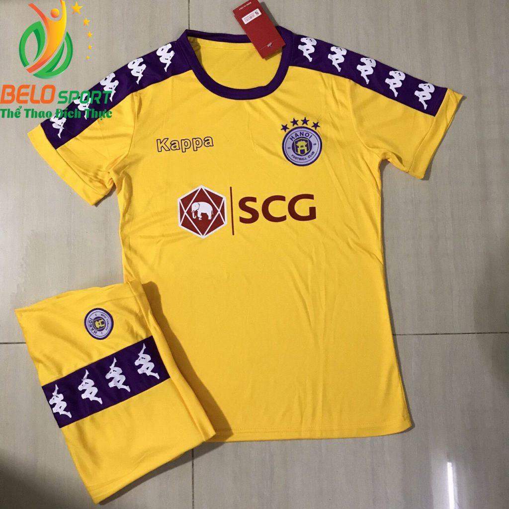 Áo bóng đá CLB Hà Nội T&T 2019 màu vàng giá rẻ