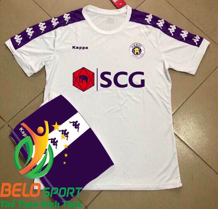 Áo bóng đá CLB Hà Nội T&T 2019 giá rẻ màu trắng