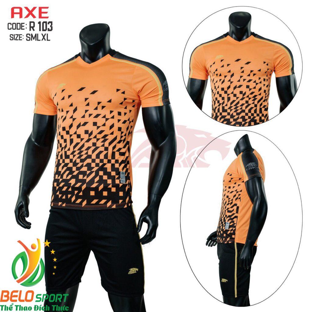 Áo bóng đá không lô gô K-002 2019 giá rẻ màu cam
