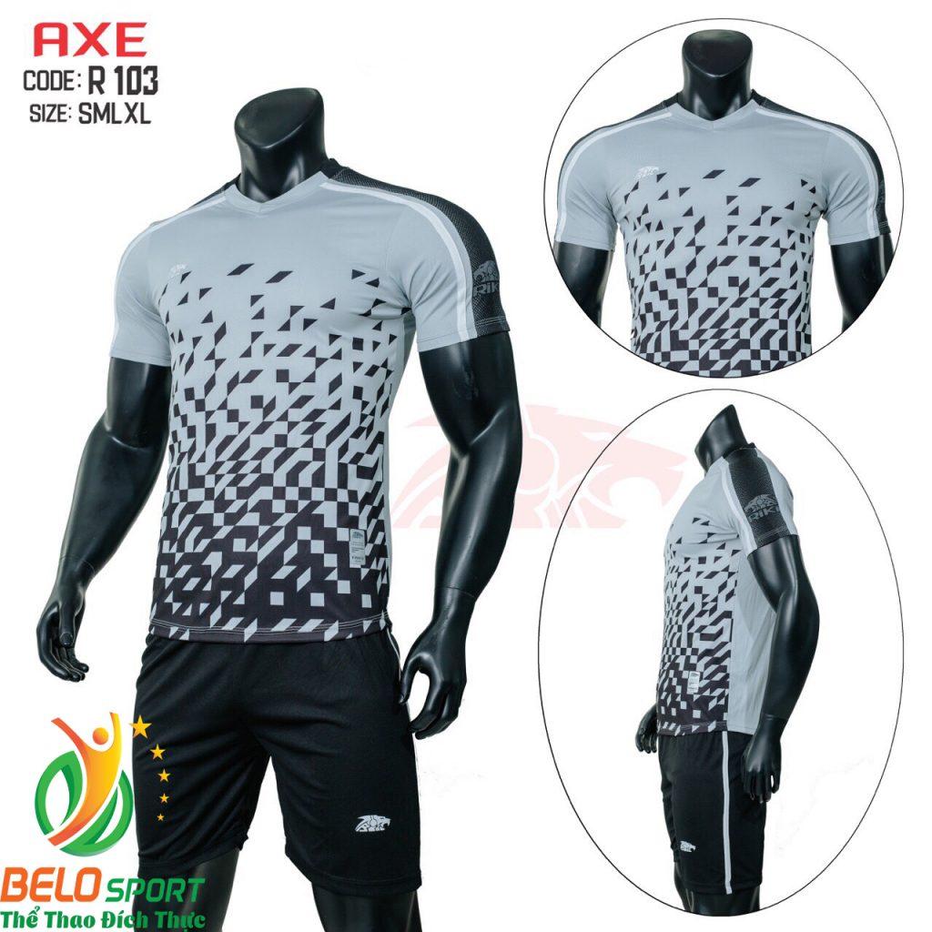 Áo bóng đá không lô gô K-004 2019 giá rẻ màu xám