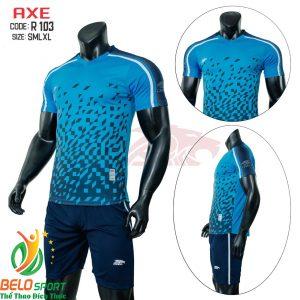 Áo bóng đá không lô gô K-005 2019 giá rẻ màu xanh dương
