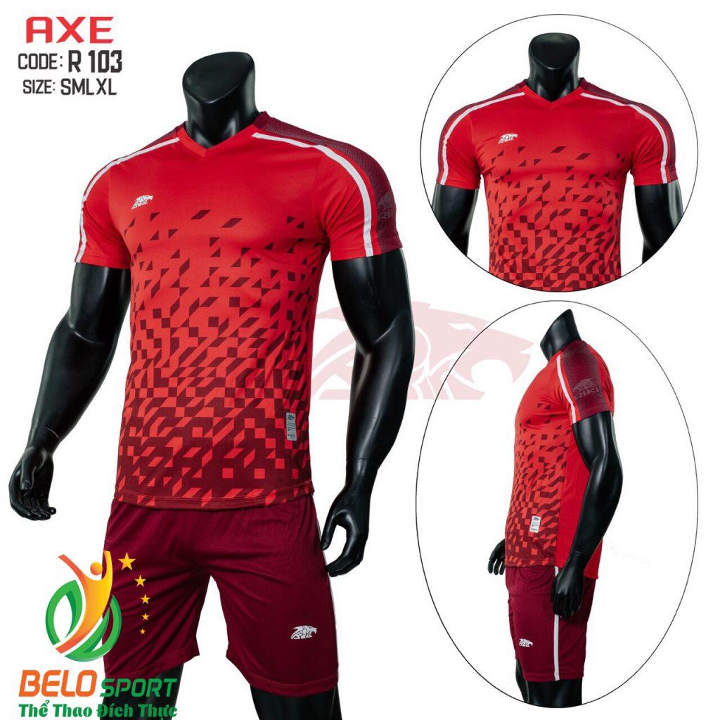 Áo bóng đá không lô gô K-006 2019 giá rẻ màu đỏ