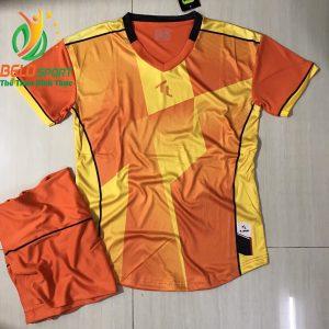 Áo bóng đá không lô gô K-008 2018 giá rẻ màu cam