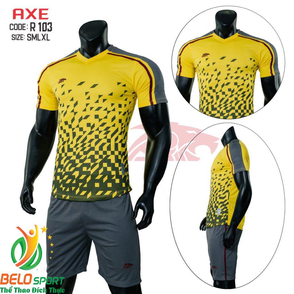Áo bóng đá không lô gô K-007 2019 giá rẻ màu vàng