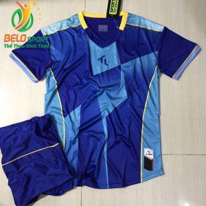 Áo bóng đá không lô gô K-009 2019 giá rẻ màu xanh dương