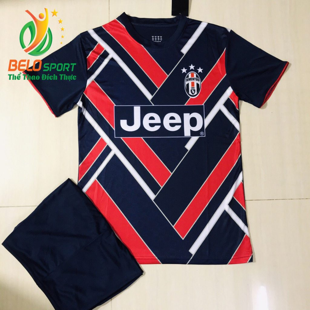 Áo bóng đá CLB juvestus 2019  đọc quyền thiết kế màu đỏ pha tím than