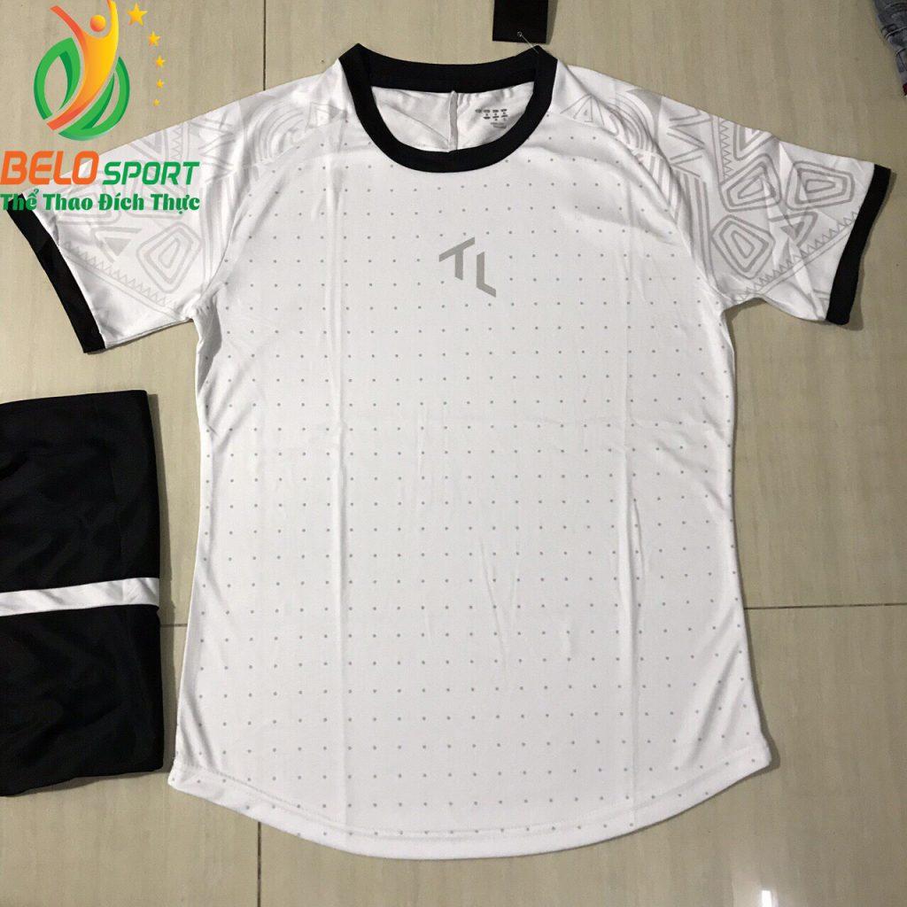 Áo bóng đá không lô gô K-015 2019 giá rẻ trắng