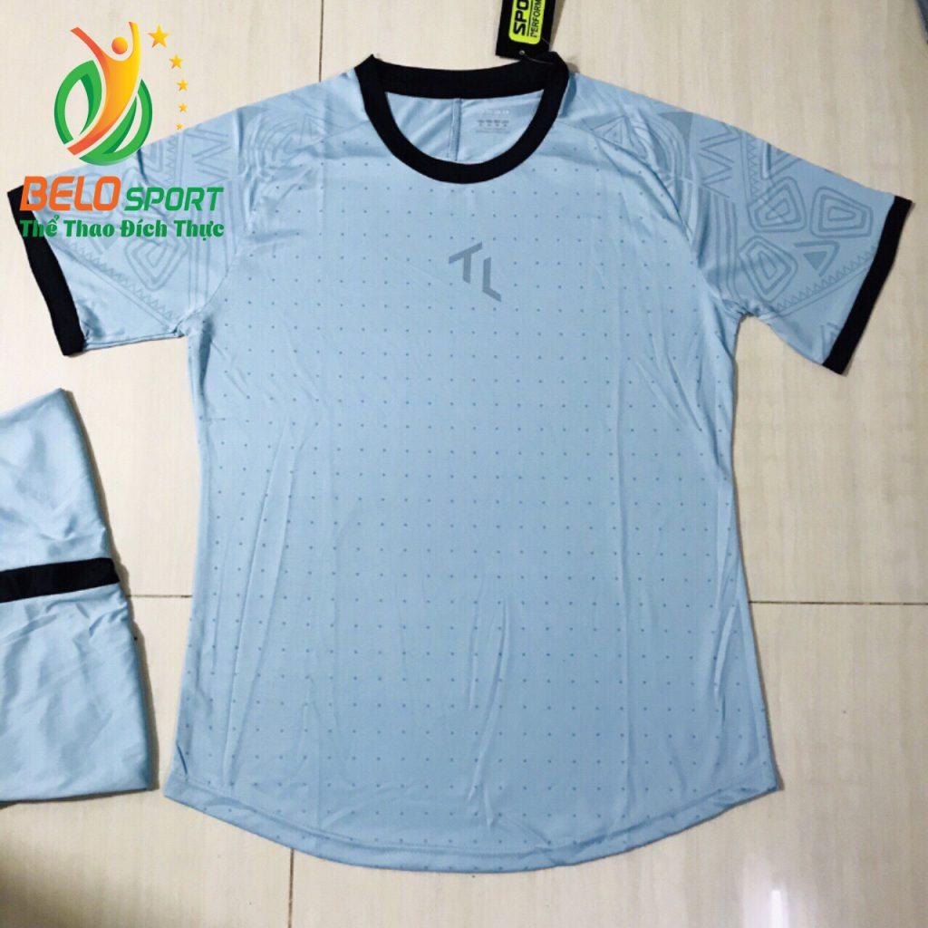 Áo bóng đá không lô gô K-016 2019 giá rẻ màu xanh ngọc