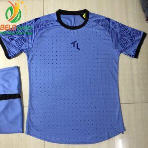 Áo bóng đá không lô gô K-018 2019 giá rẻ màu xanh dương