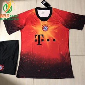 Áo bóng đá CLB bayen munchen đọc quyền thiết kế màu cam