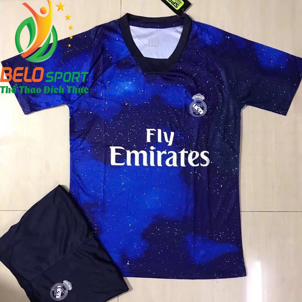 Áo bóng đá CLB Real 2019 độc quyền thiết kế màu xanh