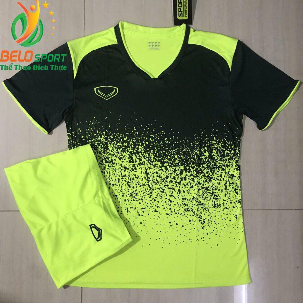 Áo bóng đá không lô gô K-022 2019 giá rẻ màu đen pha chuối