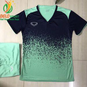 Áo bóng đá không lô gô K-024 2019 giá rẻ màu tím thanh pha xanh ngọc