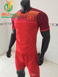 Áo bóng đá đội Tuyển Việt Nam 2019 độc quyền thiết kế màu đỏ