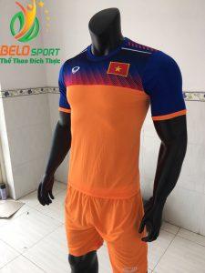 Áo bóng đá đội Tuyển Việt Nam 2019 đôc quyền thiết kế màu cam