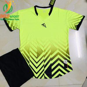 Áo bóng đá không lô gô K-025 2019 giá rẻ màu chuối