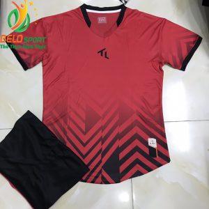Áo bóng đá không lô gô K-026 2019 giá rẻ màu đỏ