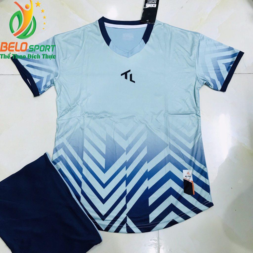 Áo bóng đá không lô gô K-027 2019 giá rẻ xanh ngọc