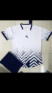 Áo bóng đá không lô gô K-028 2019 giá rẻ trắng