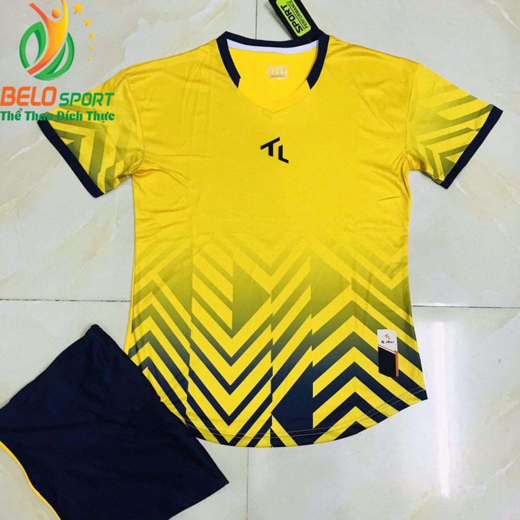 Áo bóng đá không lô gô K-029 2019 giá rẻ màu vàng
