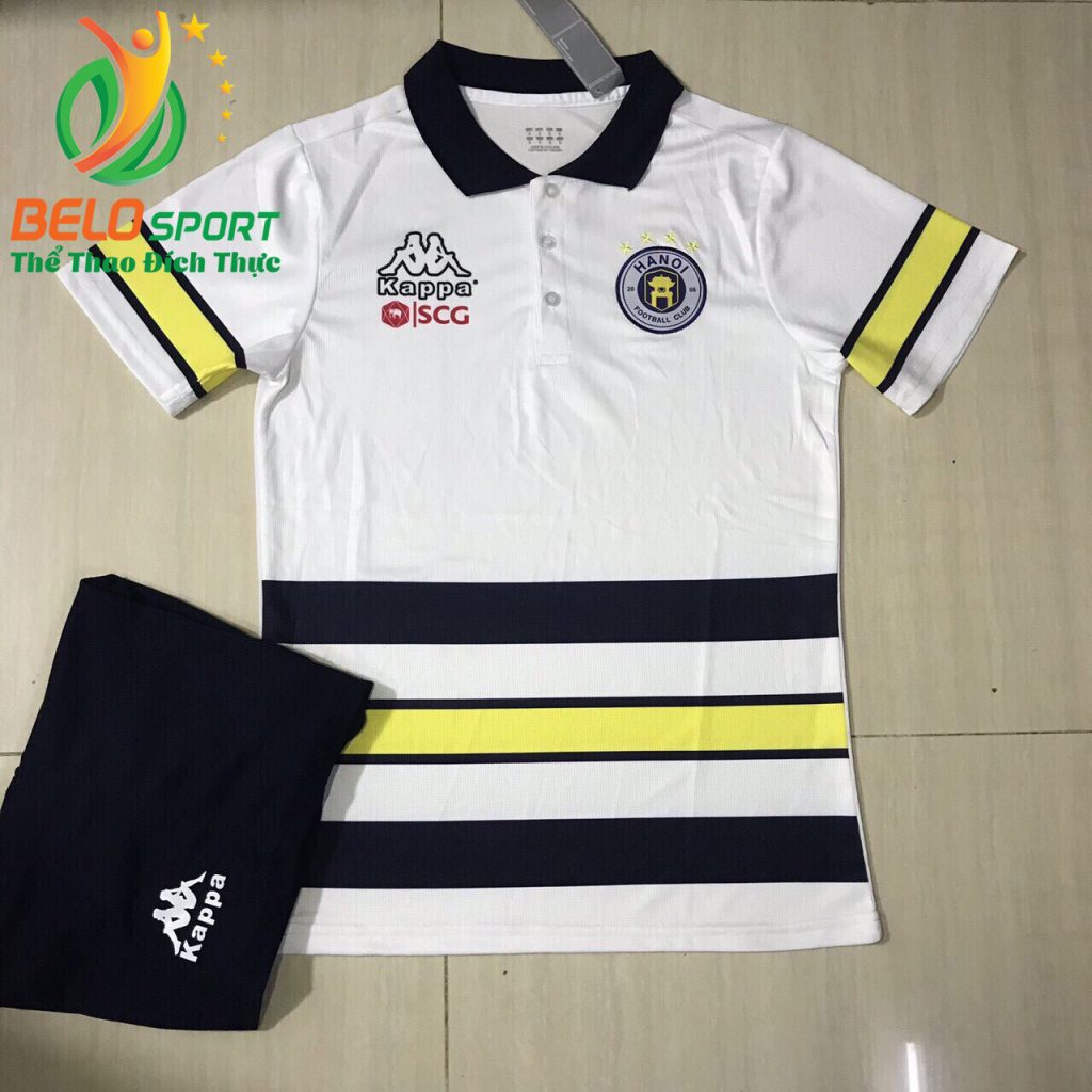 Áo bóng đá di chuyển CLBHà Nội T&T 2019-2020 màu trắng